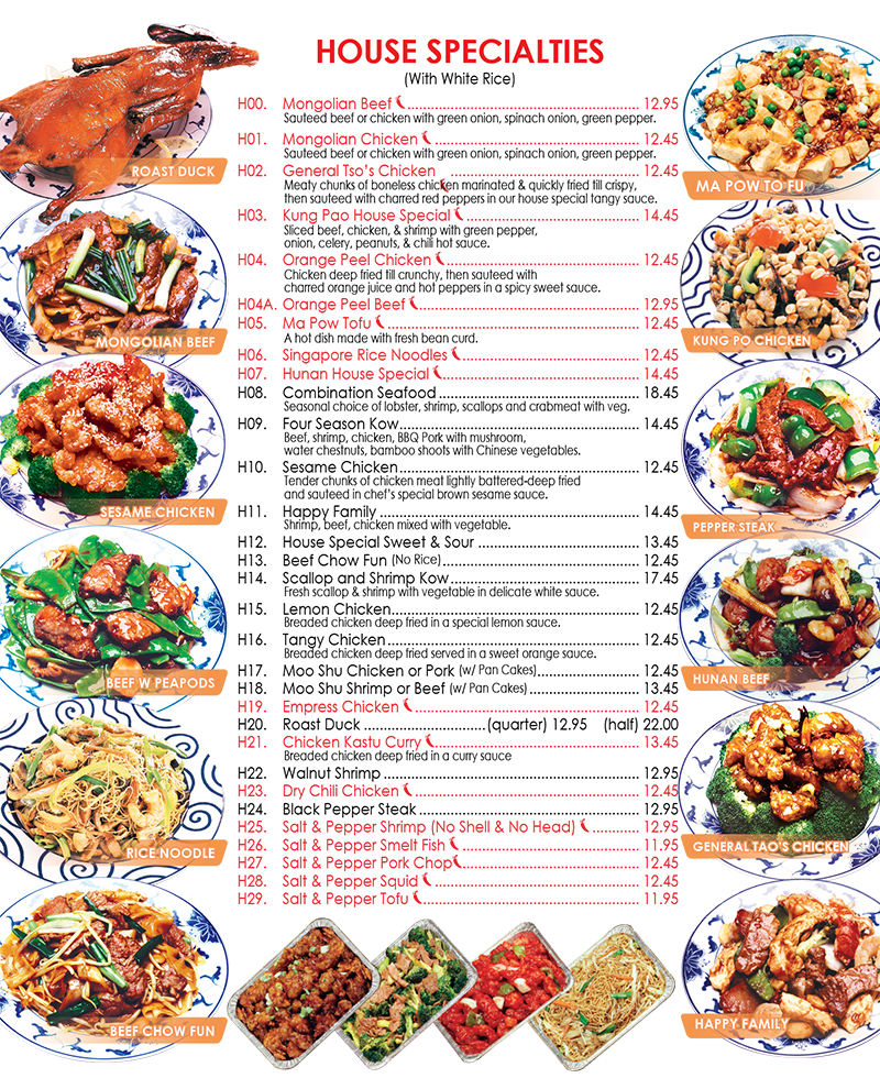 Lucky star chinese cuisine for Asian cuisine menu